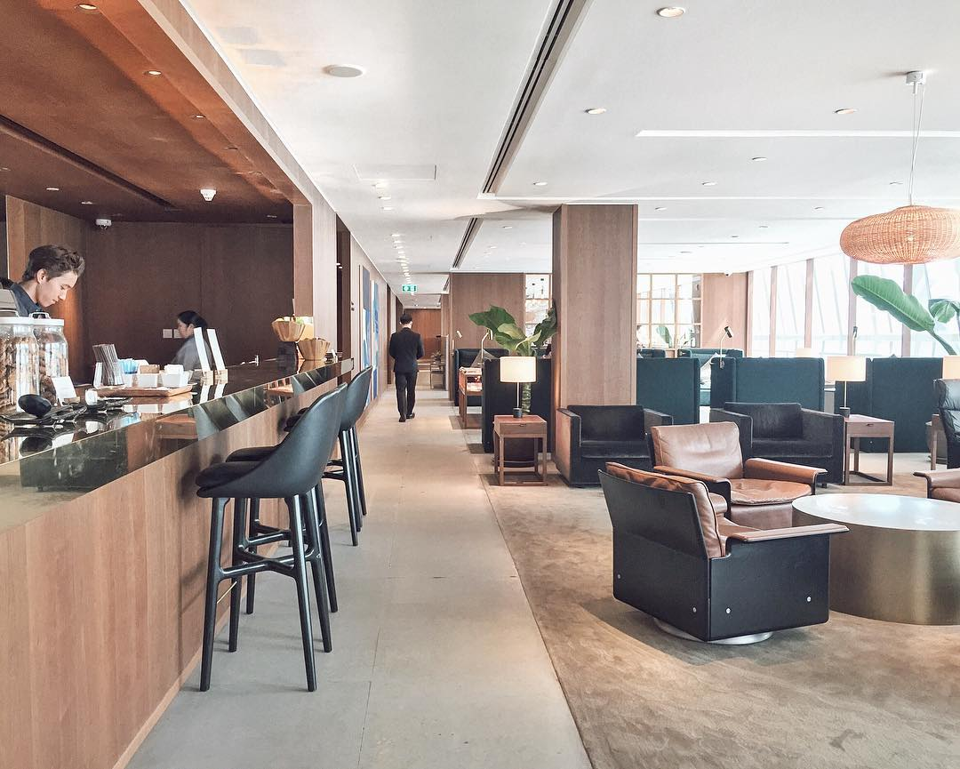 Cathay Pacific First and Business Class Lounge in Bangkok