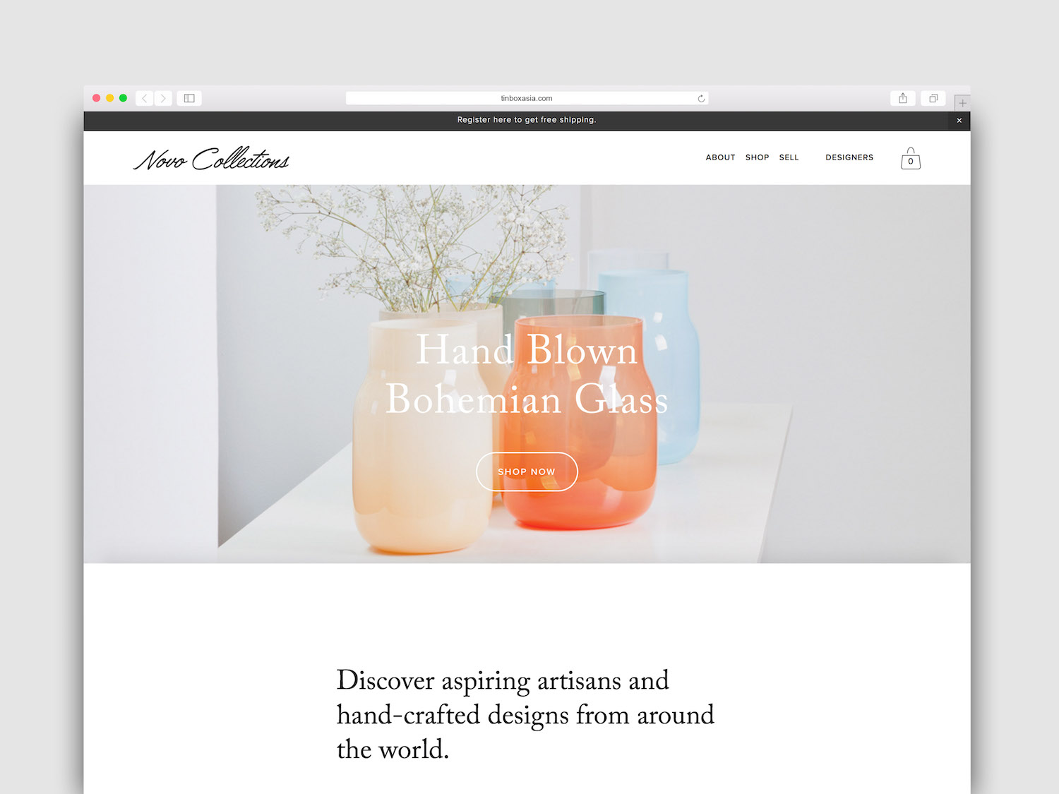 NOVO COLLECTIONS   Novo Collections is an online lifestyle store connecting independent artisans with customers around the world. The work included: logo design, brand strategy, brand voice, website and e-commerce design and creation, social media strategy.