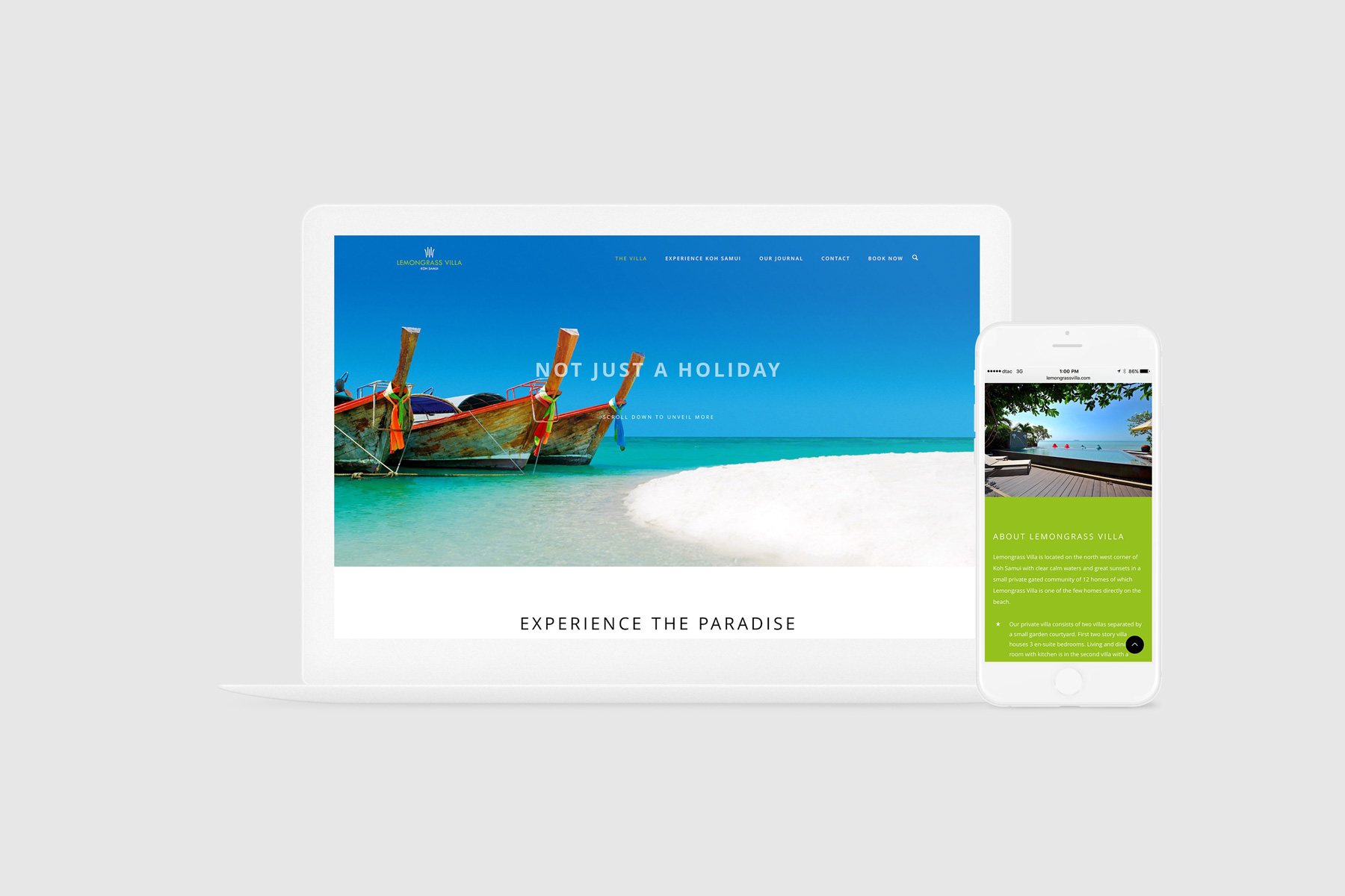 HOTEL WEBSITE WITH A BOOKING SYSTEM   I worked with the developer of Lemongrass Villa, a private vacation estate in Koh Samui, Thailand, to design and develop the foundation of the core brand identity, along with full creative direction, photography, concept development, marketing, villa amenities production and brand/customer experience, in addition to designing the website and a social media presence.   www.lemongrassvilla.com