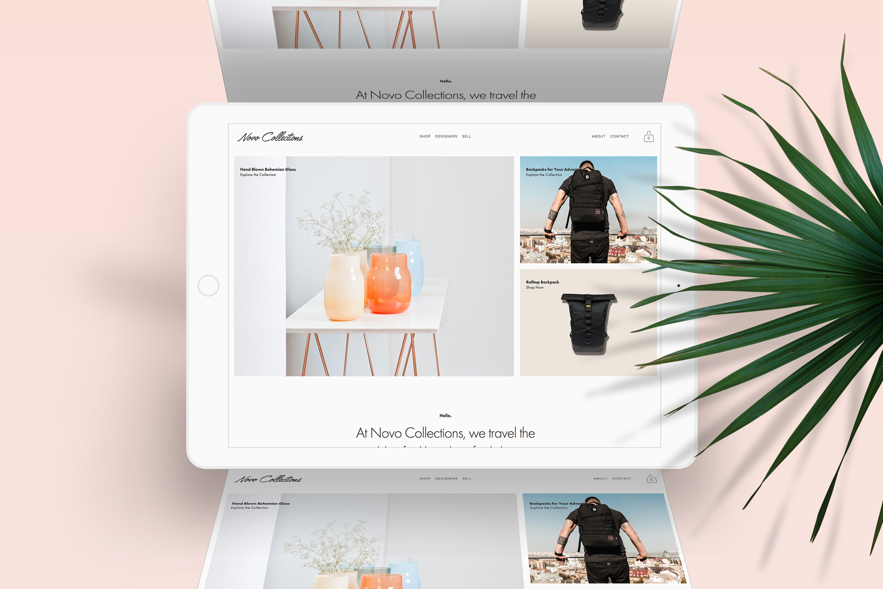 E-COMMERCE STORE   Novo Collections is an online lifestyle store connecting independent artisans with customers around the world. The work included: logo design, brand strategy, brand voice, website and e-commerce design and creation, social media strategy.   www.novocollections.com