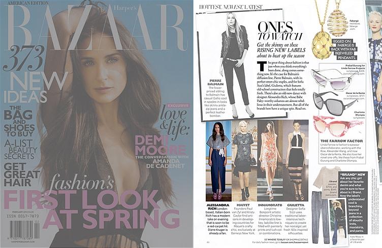 Harper's Bazaar US, Alessandra Rich