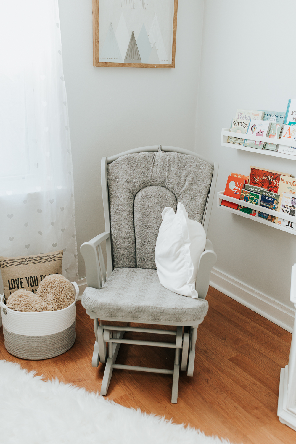 light blue nursery details, rocker - Markham In-Home Photos