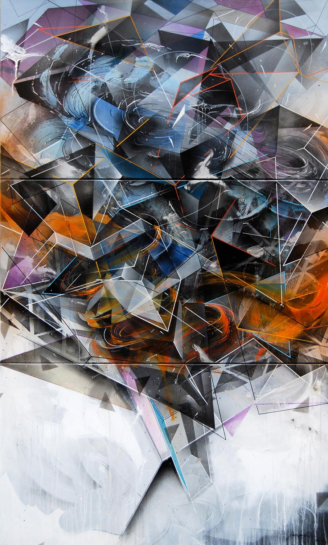 Remix Every Second 3x60x110cm 2013