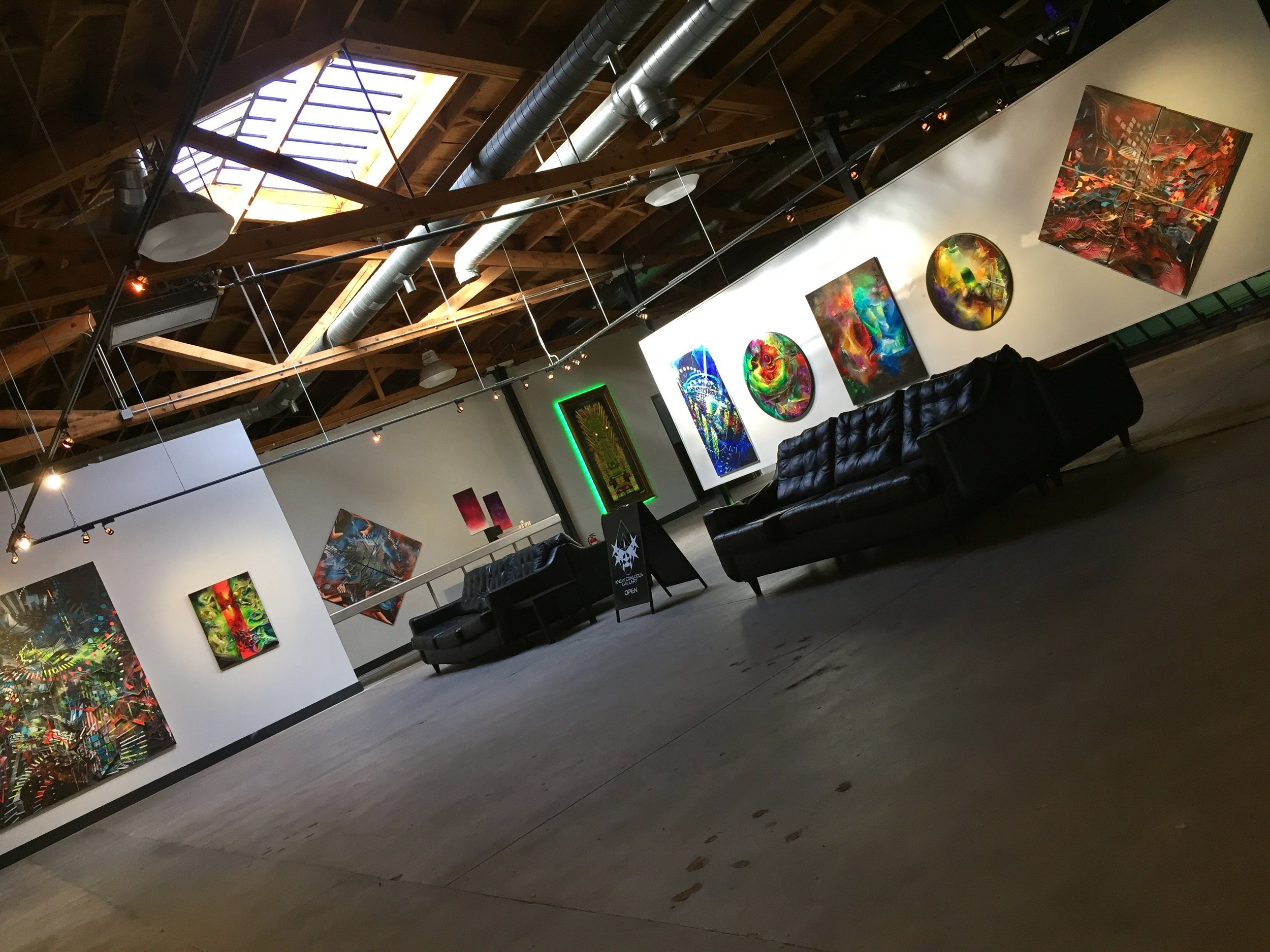 Gallery view at Knew Conscious in Denver