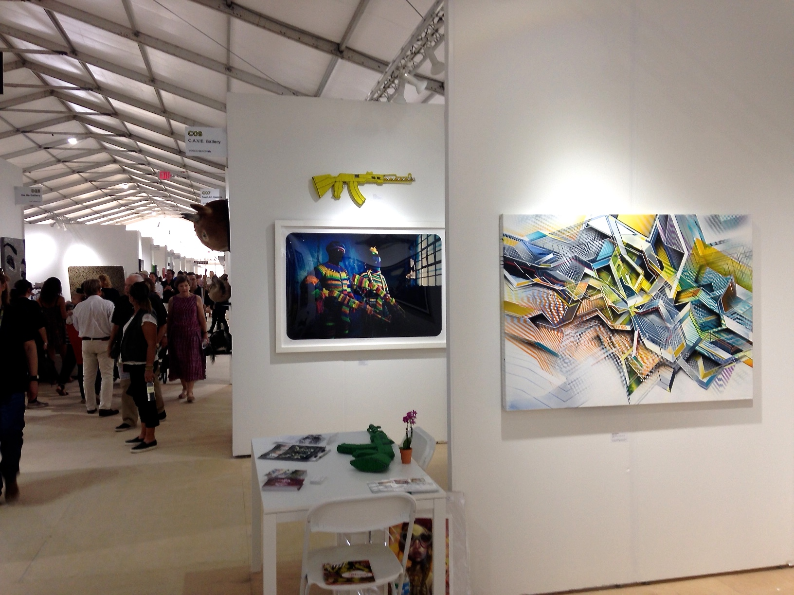 Scope art fair 2014 with Cave Gallery from Venice Beach