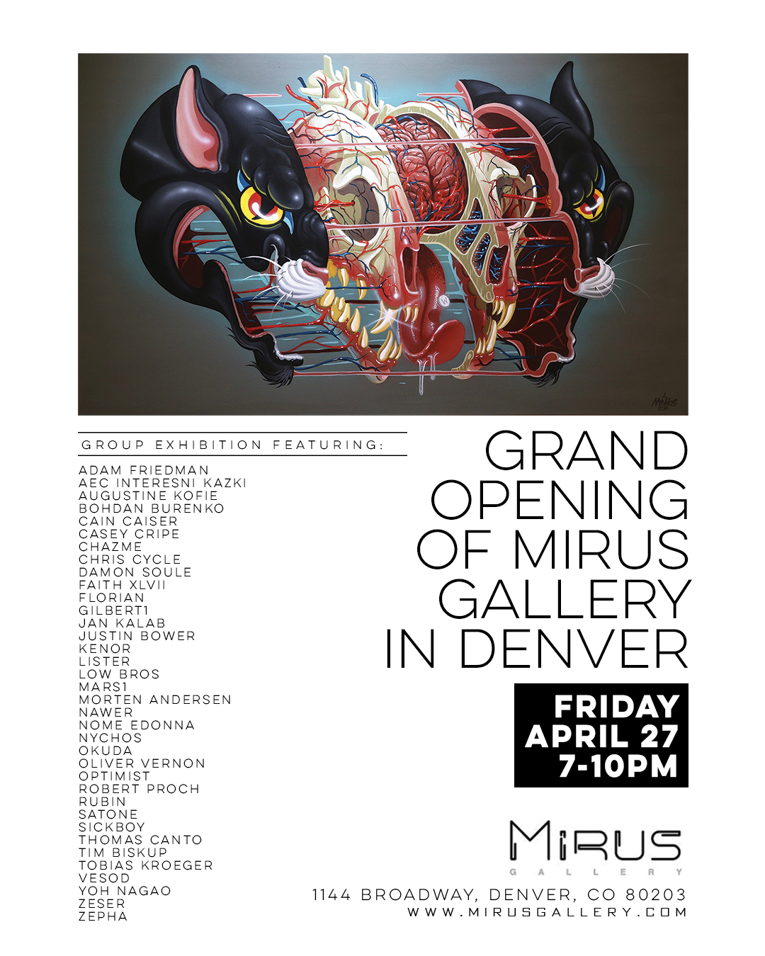 The grand opening of Mirus Gallery in Denver. I was vey pleased to be invited to participate in this exhibition!