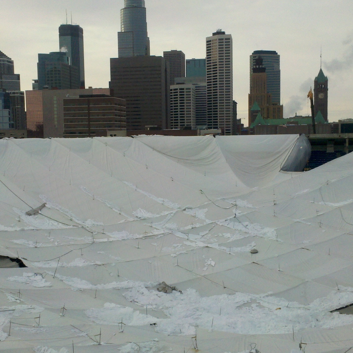 Pinnacle Engineering - Emergency Response Projects - Metrodome Roof Collapse
