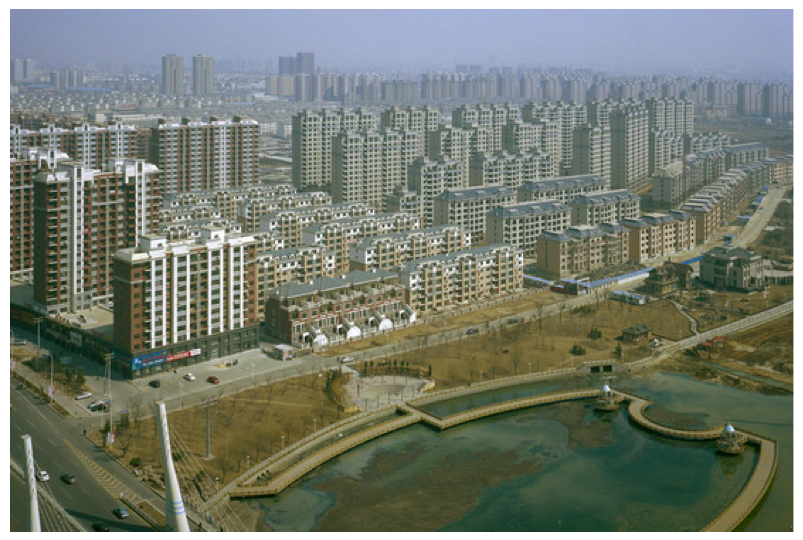"""Ghost city"" of unsold apartments in Yingkou, China (Wall Street Journal, 14 Apr 2014)"