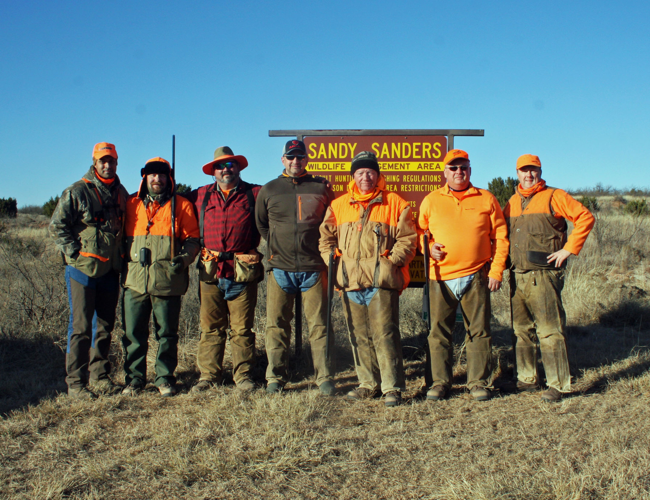 Lone Star quail/pheasant forever hunt at sandy sanders in ok december 2016