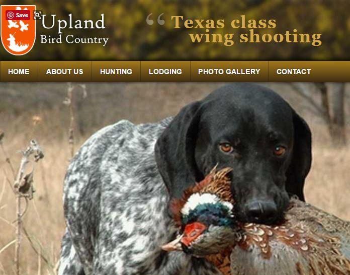 Upland Bird Country Corsicana, TX (903) 641-7196 -