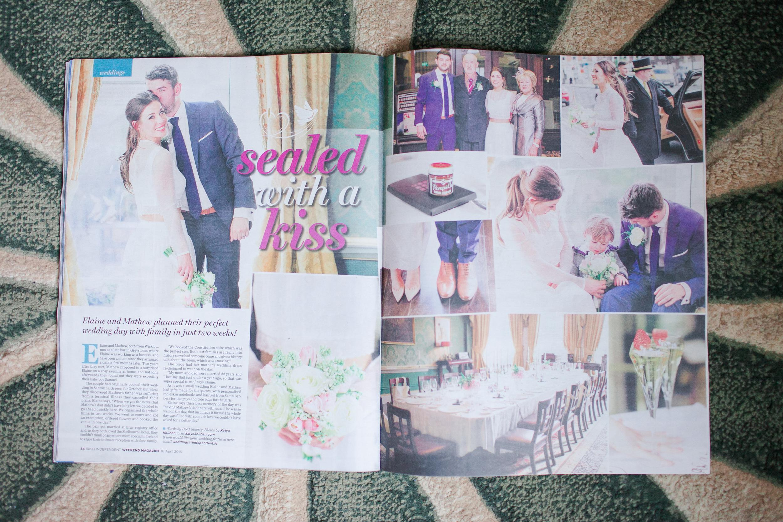 Irish Independent Wedding Feature