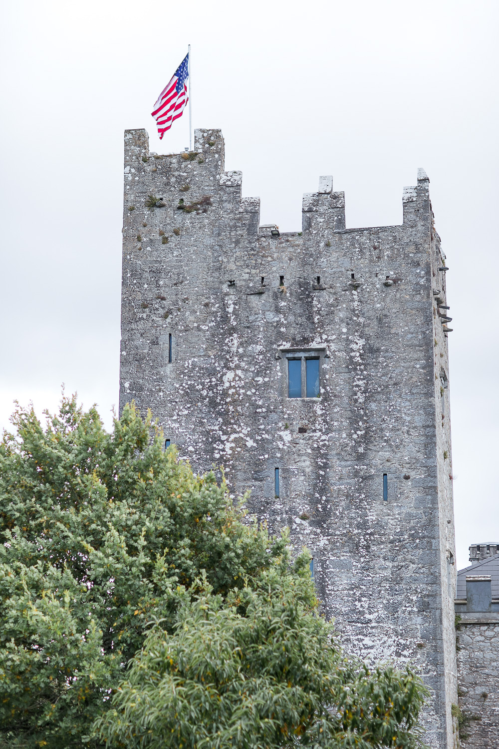 A view of the Blackwater castle showcasing the side of the tower