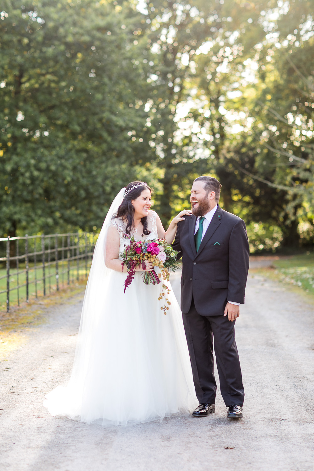 Bride and groom portraits on the grounds of blackwater castle in cork