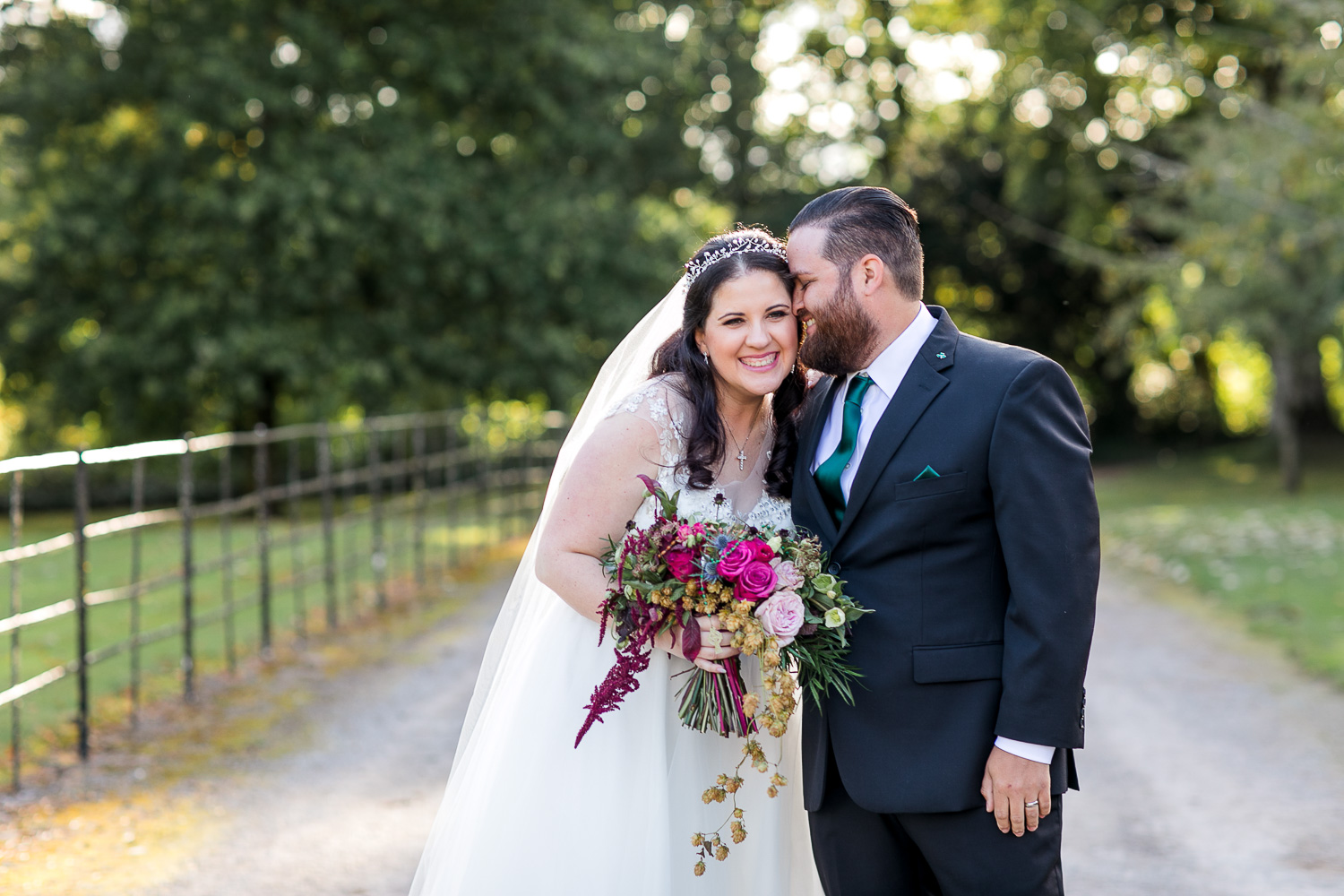 Irish countryside wedding in autumn bride and groom photographs