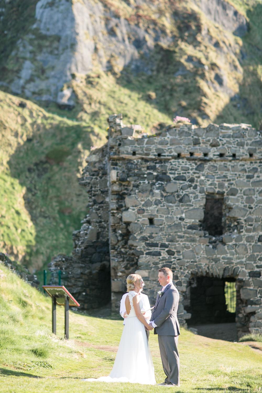 northern ireland outside wedding elopement ceremony