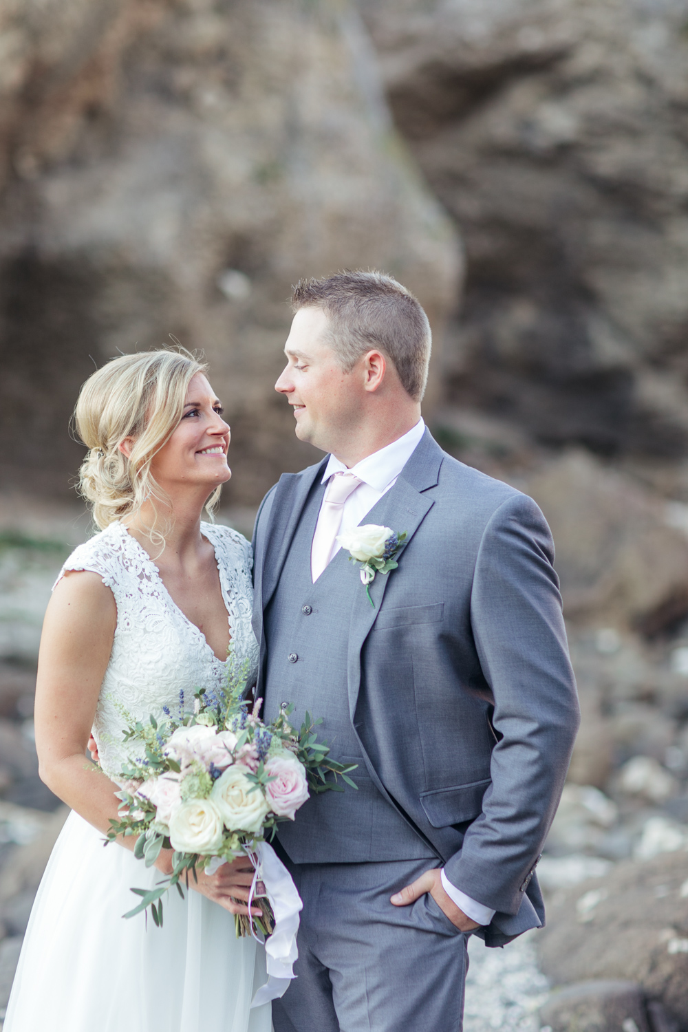 rocky background of northern irish landscape for bride and groom photographs