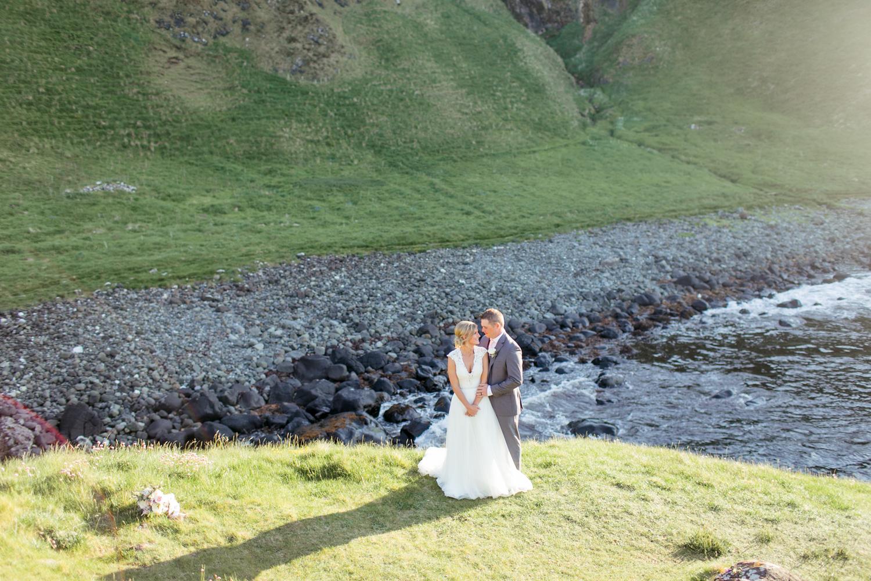 elopement photographs in northern irish landscape with the atlantic ocean