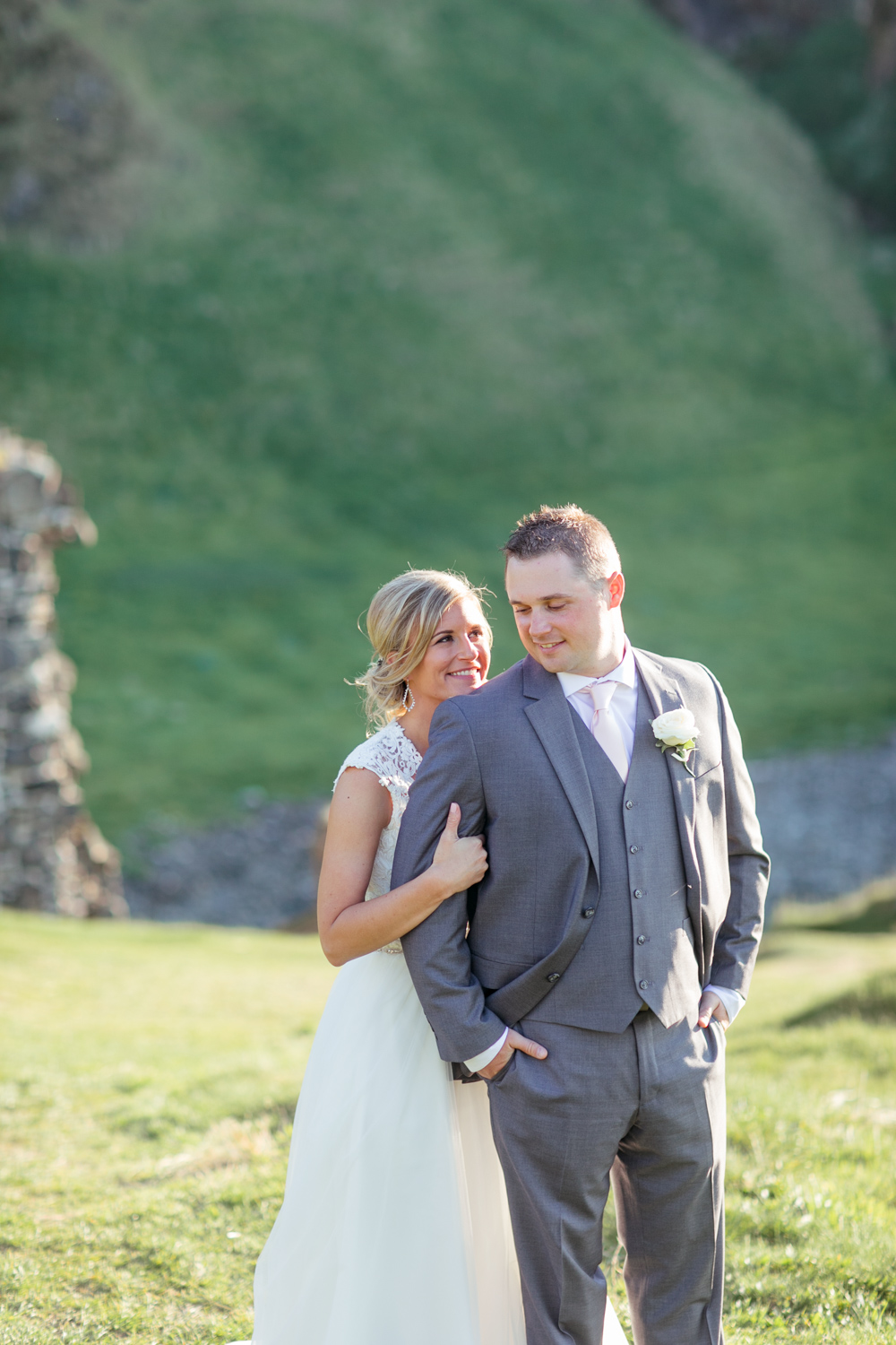 bride and groom posing for their elopement photographs