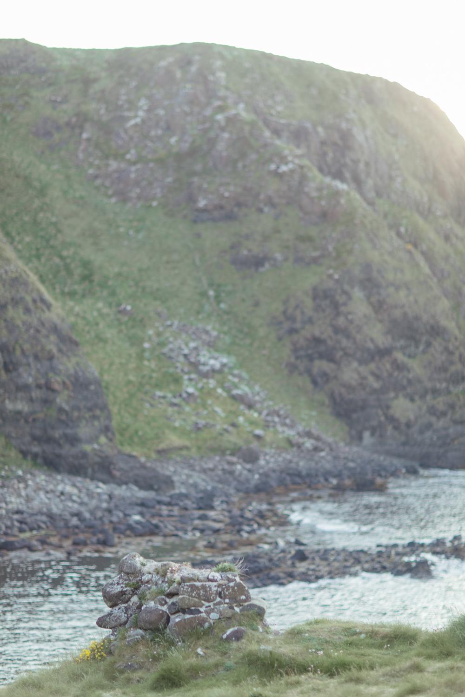 the view of atlantic ocean on the northern irish coastline