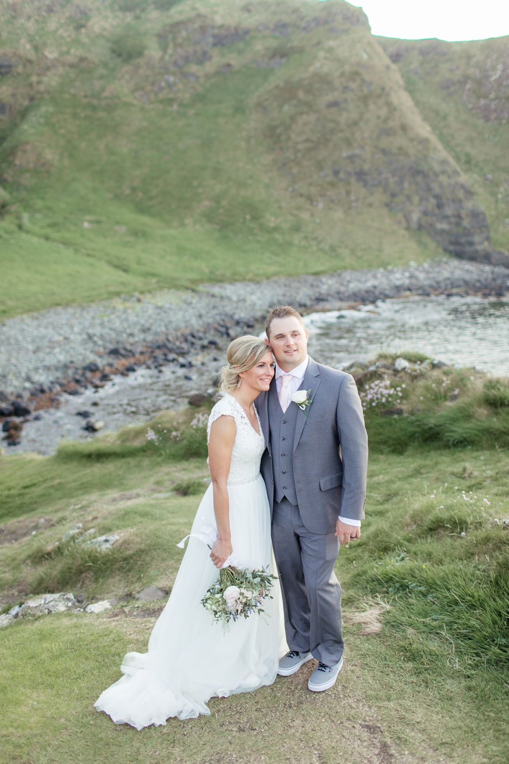 elopement of an american couple married on the atlantic coast of northern ireland