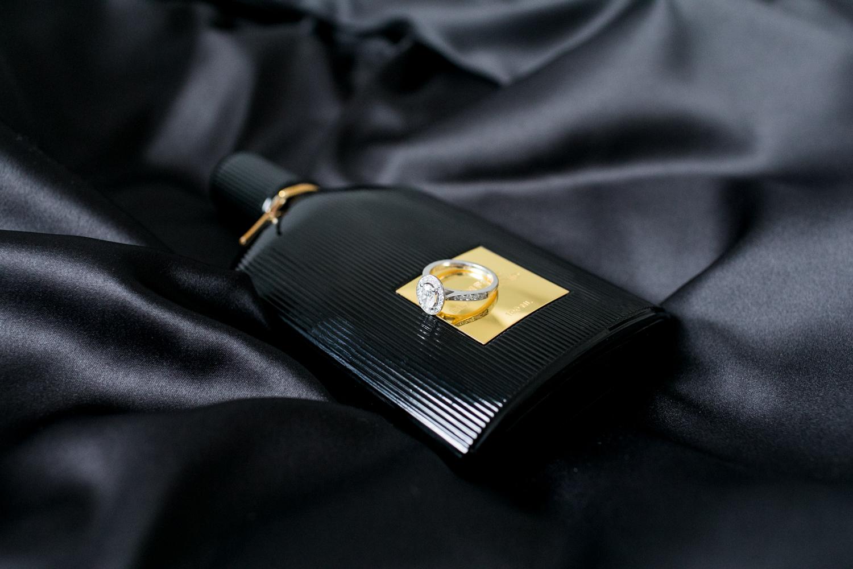 tom ford perfume on black silk garment