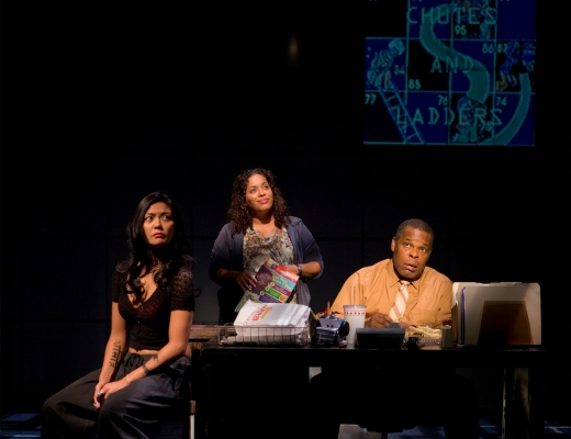 """""""If you want evidence that American playwriting is in very good hands,you need look no further."""" Bloomberg News   Teresa Avia Lim, Liza Colon-Zayas, and Ray Anthony Thomas"""