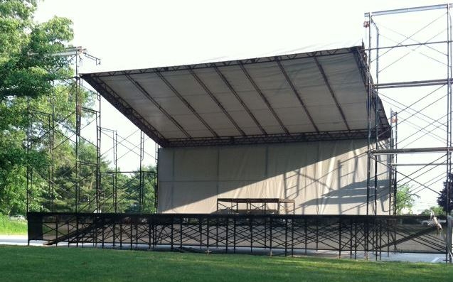 This Stage is 33' wide by 24' deep.