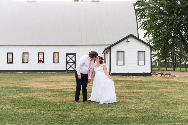 Stephanie & Nick and The Sterling Seventy Farm all lit up with magic ❤️