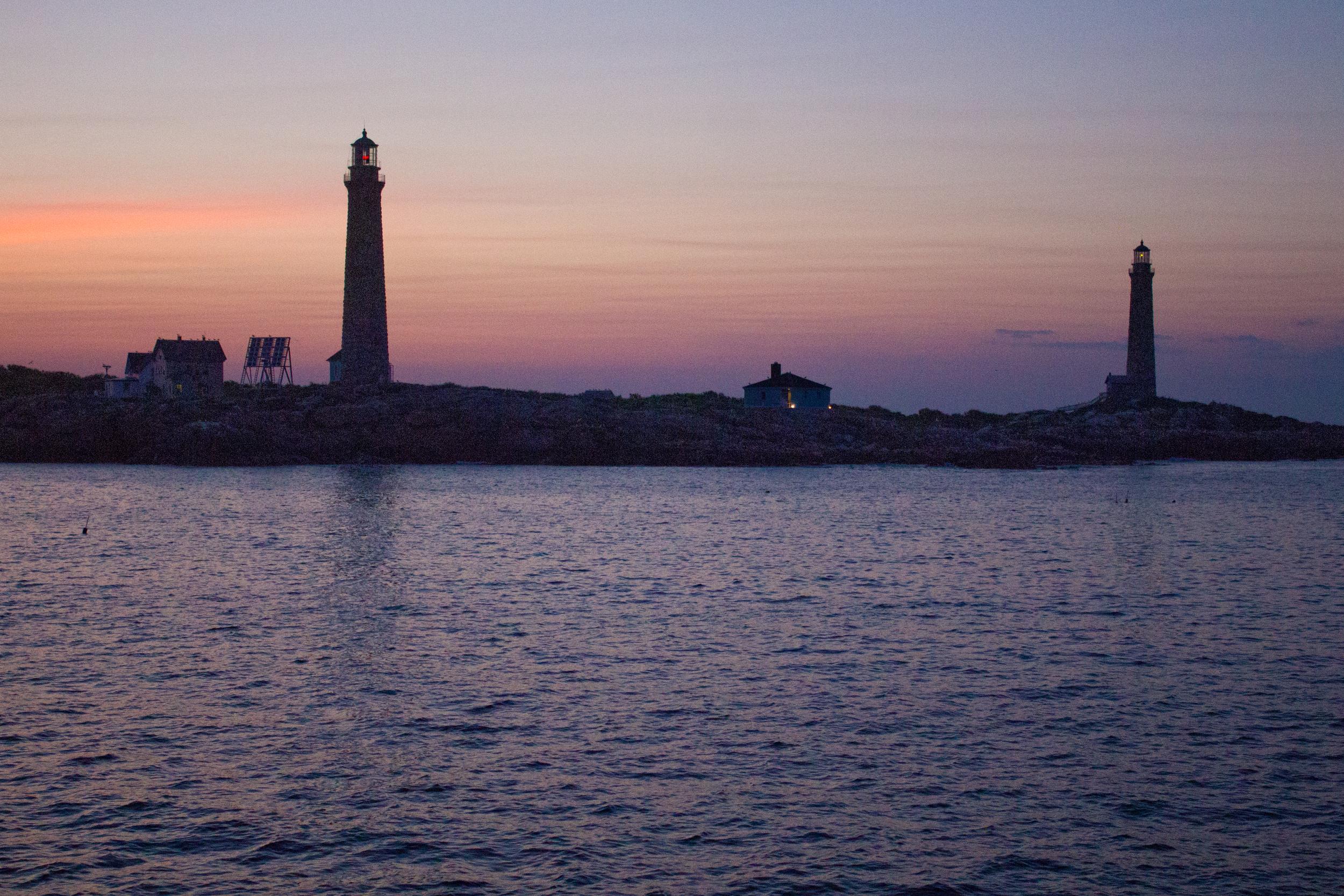 Twin Lighthouses on Thacher Island, Rockport, Massachusetts
