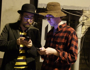 From our Operation Juliet gig in Austin, TX, me and Sean Lennon.