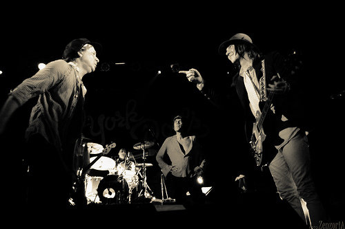 Playing with the New York Dolls in South America 2009.