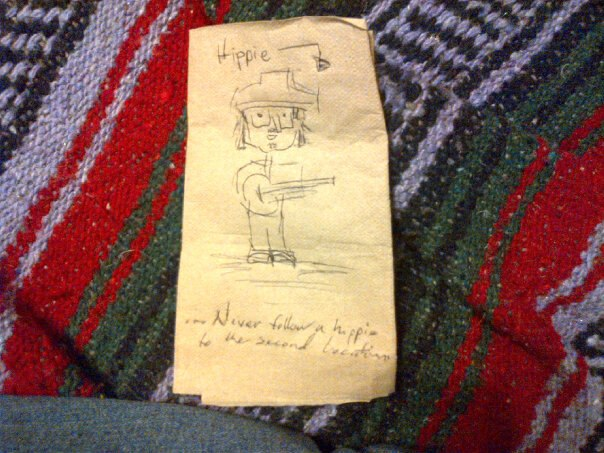 Me as a napkin in Austin, TX.