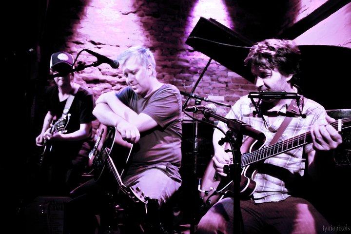 Me, JP Olsen and Tim Easton singing together at Rockwood Music Hall. Go Bucks!