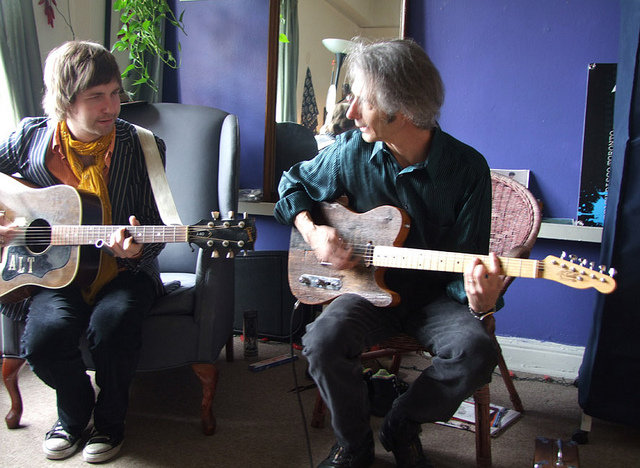Me and Lenny Kaye. One of my favorite guitarists and writers and musical minds.