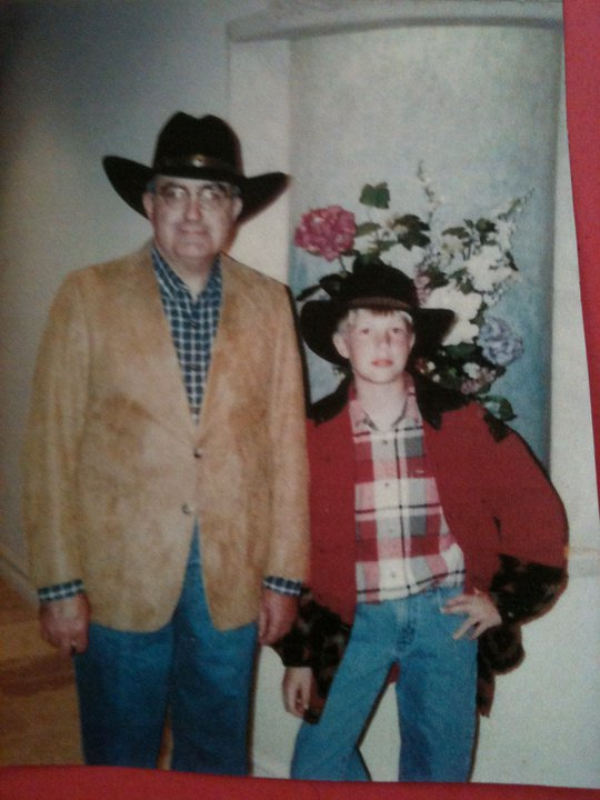 Me and my Dad when I was 11.