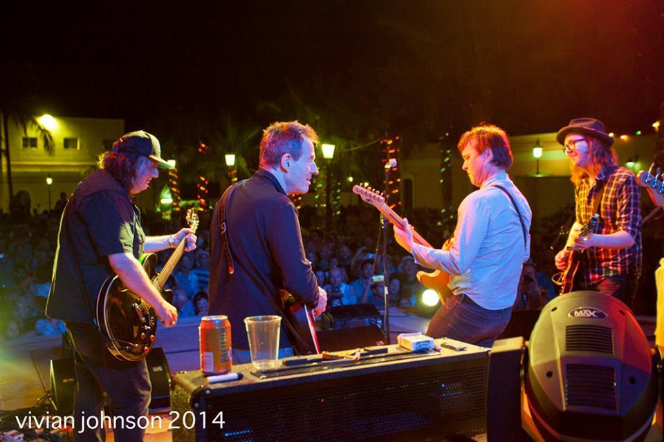 Kevn Kinney, John Paul Jones, Chuck Prophet and me.