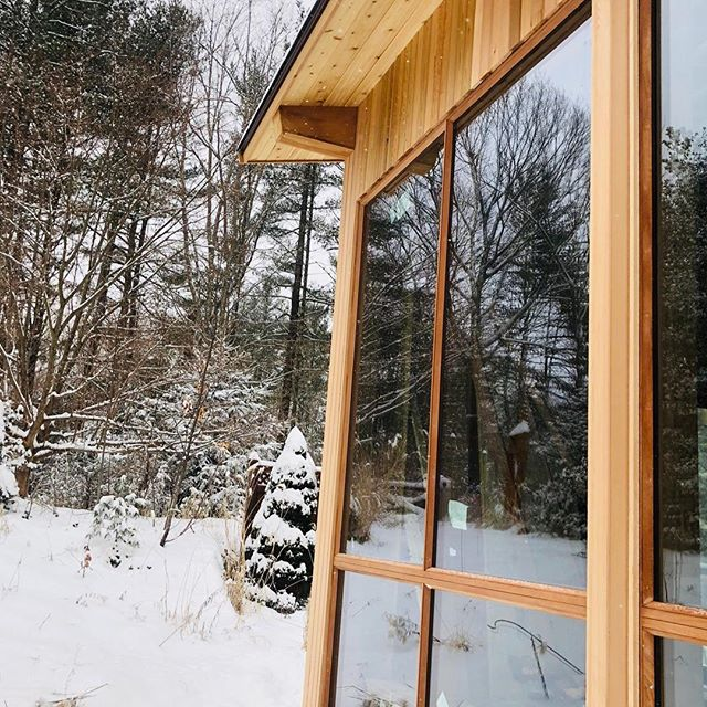 Work in progress Wednesday 🙌 We are currently doing an addition on this deck house for a family in Norwell. Here are some shots of the 7' wide x 9' tall mahogany framed windows 👌 #tmsullivanconstruction #southshore #deckhouse #homeaddition #build