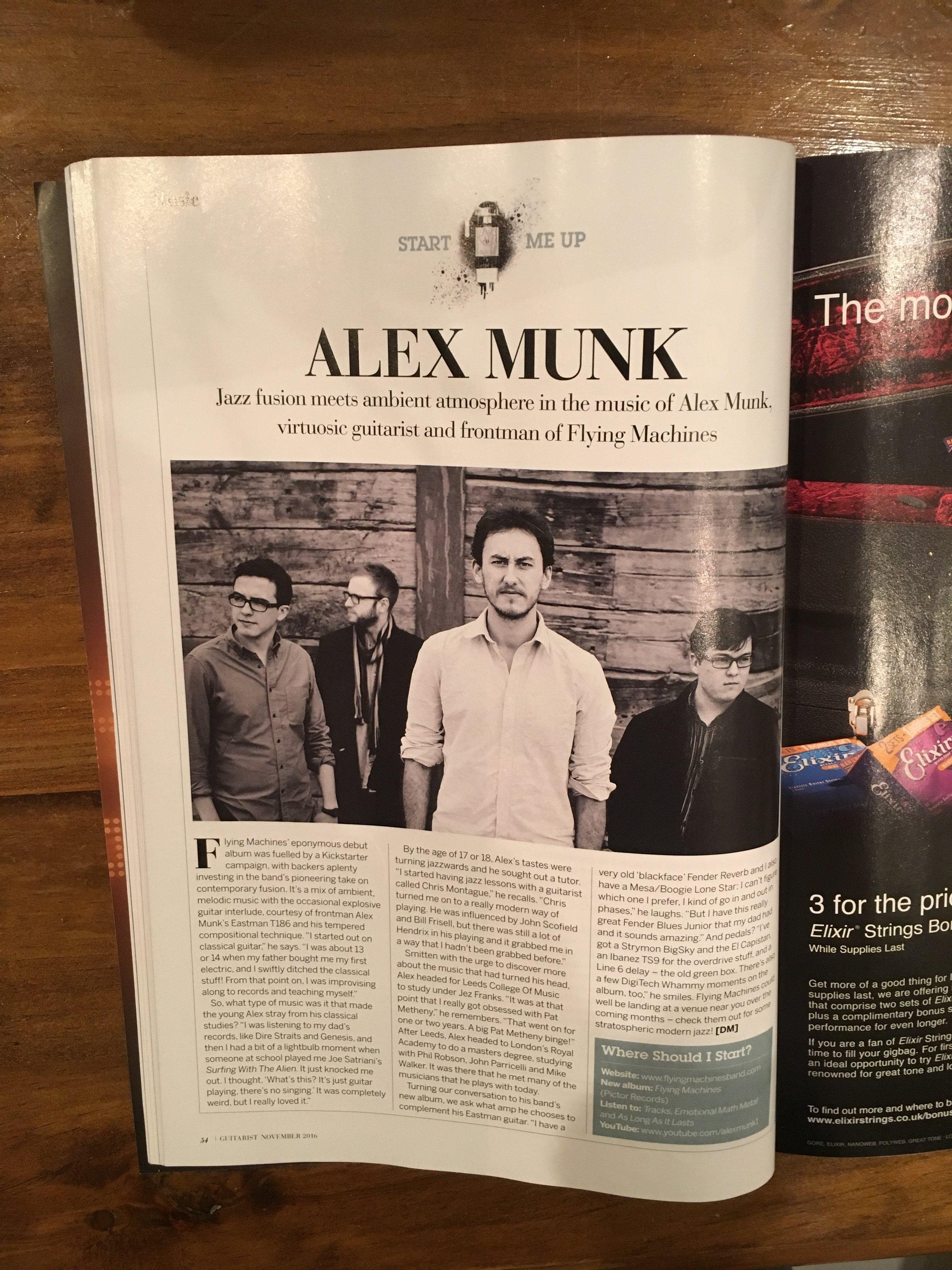 Guitarist Magazine, November 2016