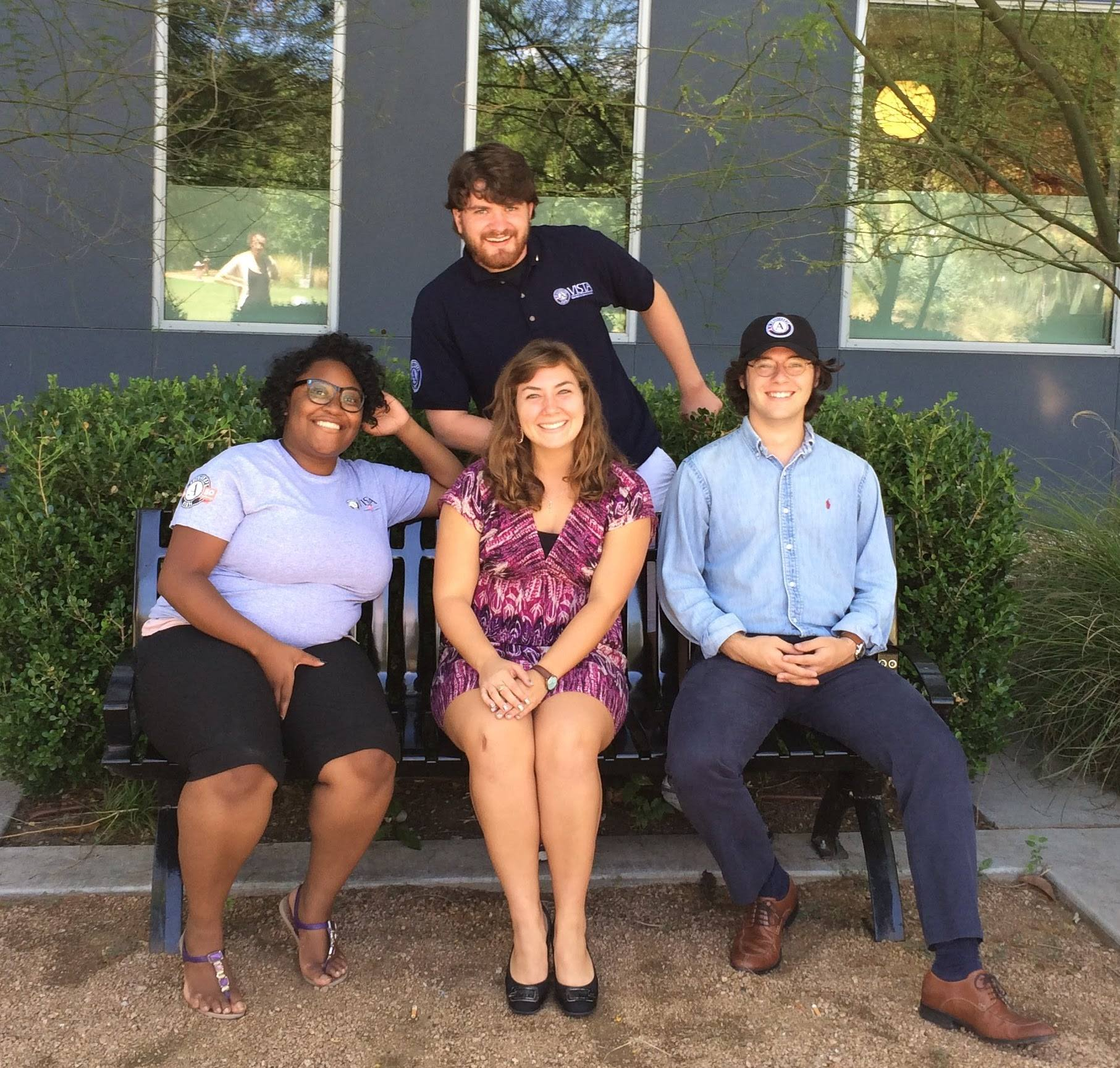 Taylor Miller, Jack Mitts, Rebecca Earle, and Meesuka Morelus at their VISTA Orientation in November 2016.