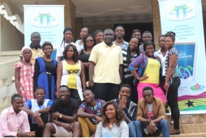 A group picture of YES-Ghana's Young Researchers