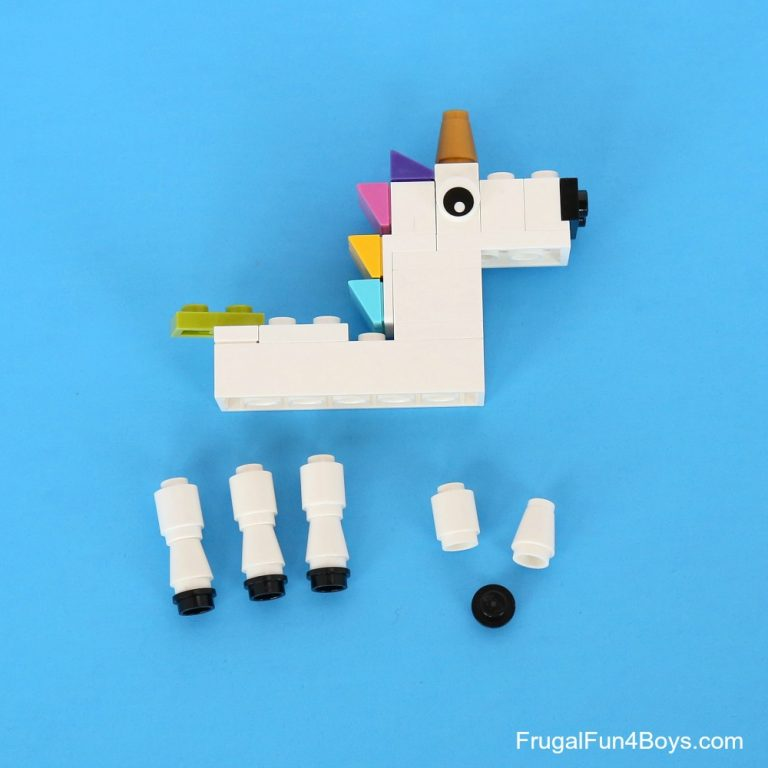 Disassembled Unicorn from  frugal fun for boys and girls .