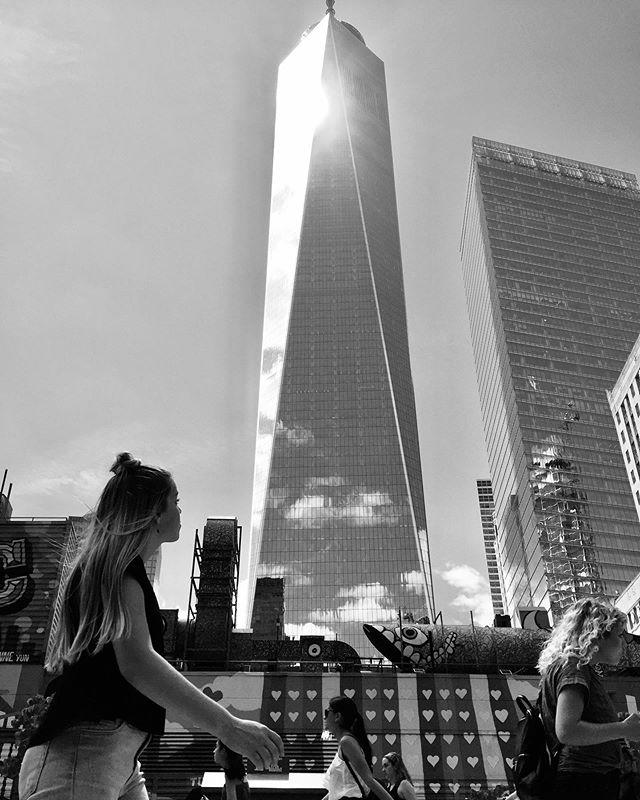 Tourists admiring #oneworldtradecenter in #nyc.