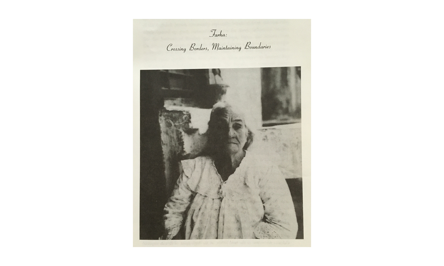 """Image of Farha in Calcutta, India, from  """"Jewish Portraits, Indian Frames: Women's Narratives from a Diaspora of Hope""""  by Jael Silliman."""