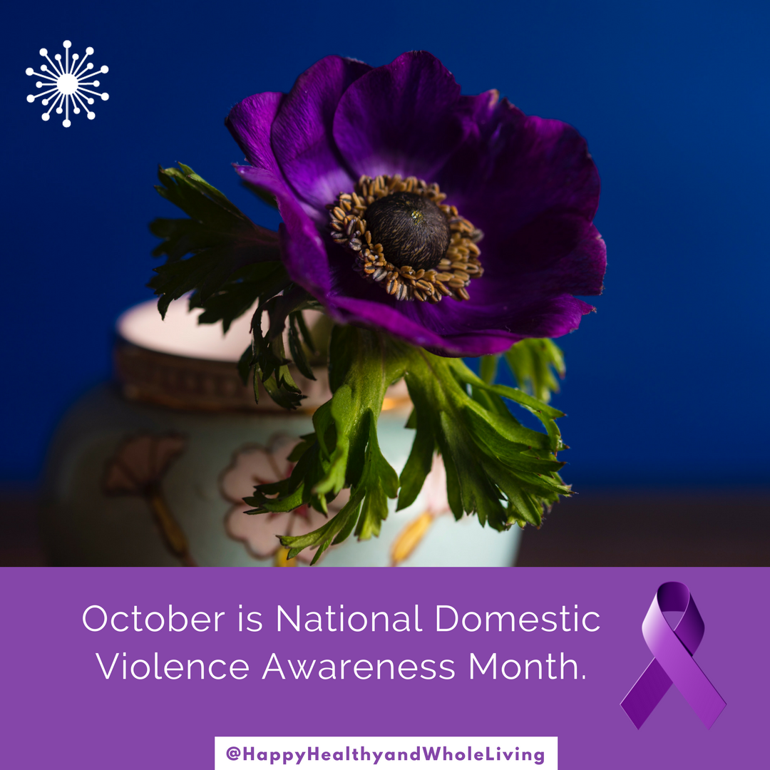 """1 in 3 women and 1 in 4 men will experience physical violence from an intimate partner. Follow me for 31 days of posts to help break the cycle. Sharing creepy """"love"""" songs, relationship info, safety tips and red flags, hope, resources and inspiration. Help to spread the word!  #DomesticViolenceAwareness  #PurpleThursday  #InspireHope  #vawa   #BreakTheCycle  #StopDomesticViolence  #HappyHealthyAndWholeLiving"""
