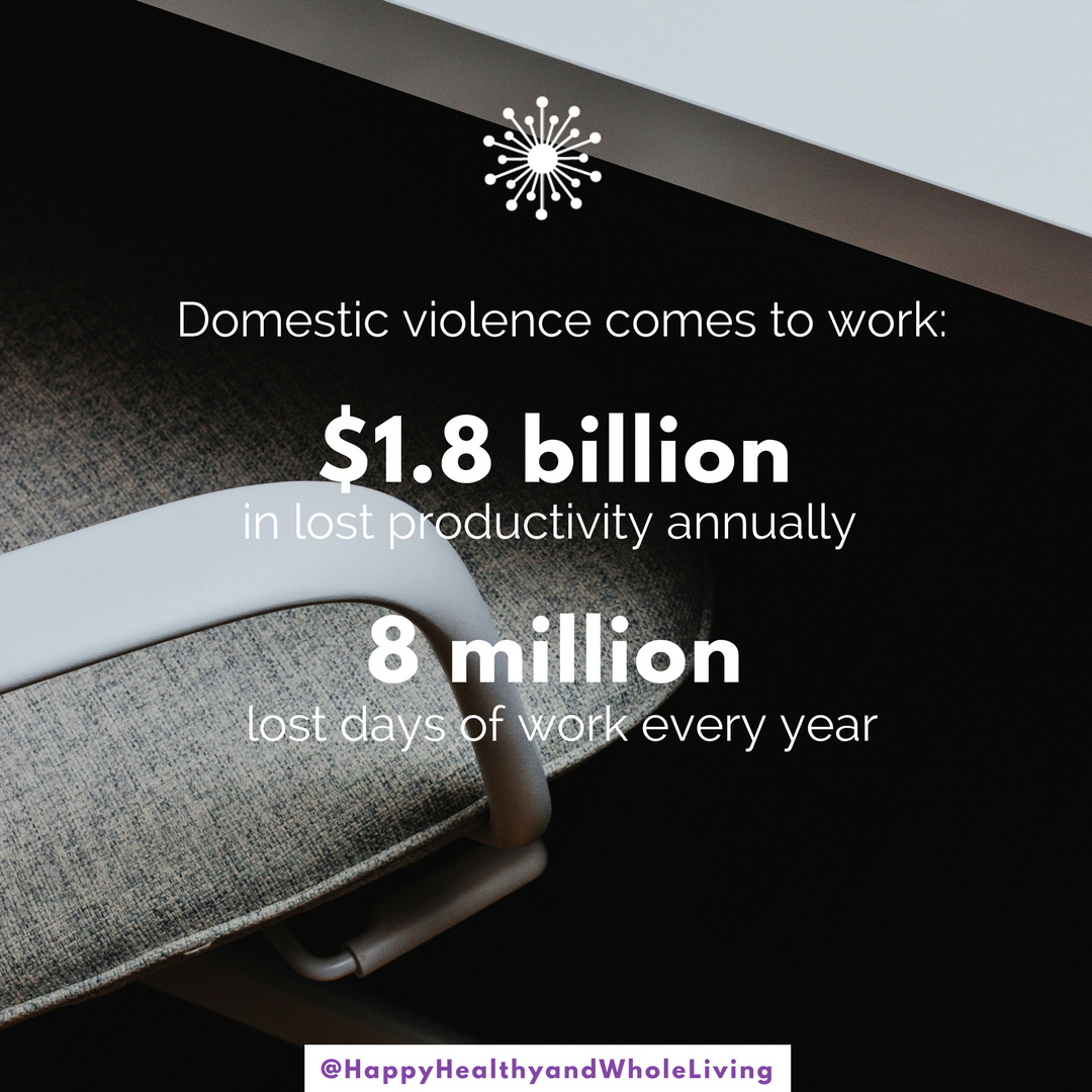 Domestic violence comes to work, and the cost is too high. About 2 women are killed at work by a husband, boyfriend or ex. Co-workers are sometimes killed or injured during attacks. The stakes are too high to ignore. Employers can make sure that their safety protocols offer protection to minimize the risk. More info  #ontheblog , with 30 days of resources, hope and inspiration for  #DomesticViolence Awareness Month.  #business  #humanresources  #security  #workplaceviolence   #HappyHealthyAndWholeLiving