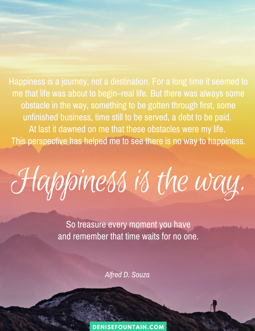 "Download this inspirational ""Happiness is the way"" printable poster!"