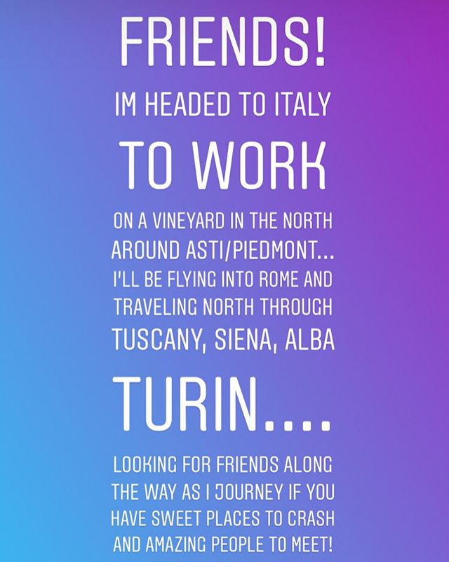 Headed to Italy at the end of this month and most of October to help with the grape harvest and wine making process in Piedmont! Calling in amazing people to meet along the way and adventure with- DM me if you, your friends or family will be out there or through the country as I make my sojourn North from Rome 🇮🇹 #autumnal #equinox #Piemonte #firenze #alba #toscano #siena #triora #roma #witchesofitaly