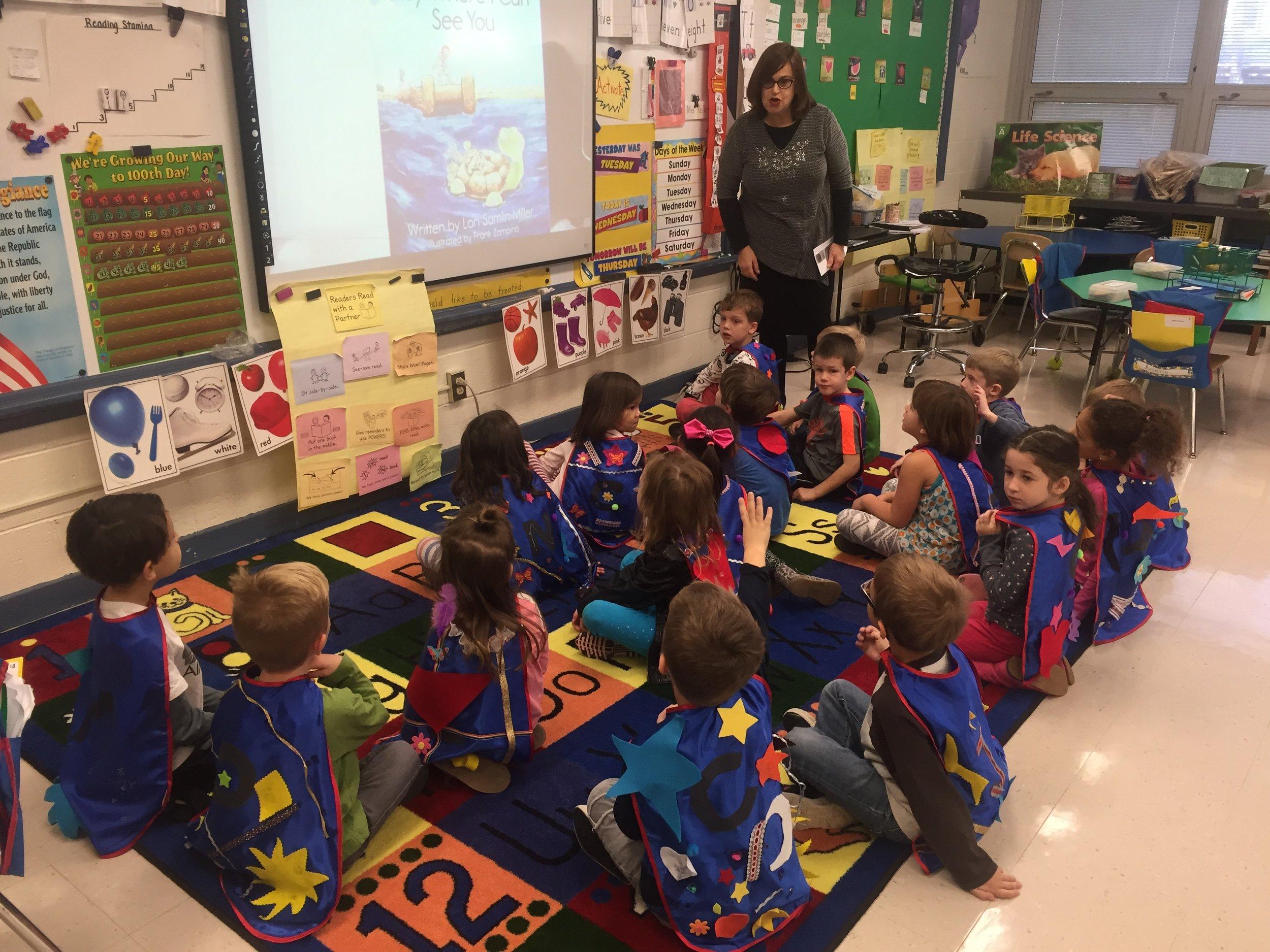 Caped Kindergarteners at Zane North.JPG