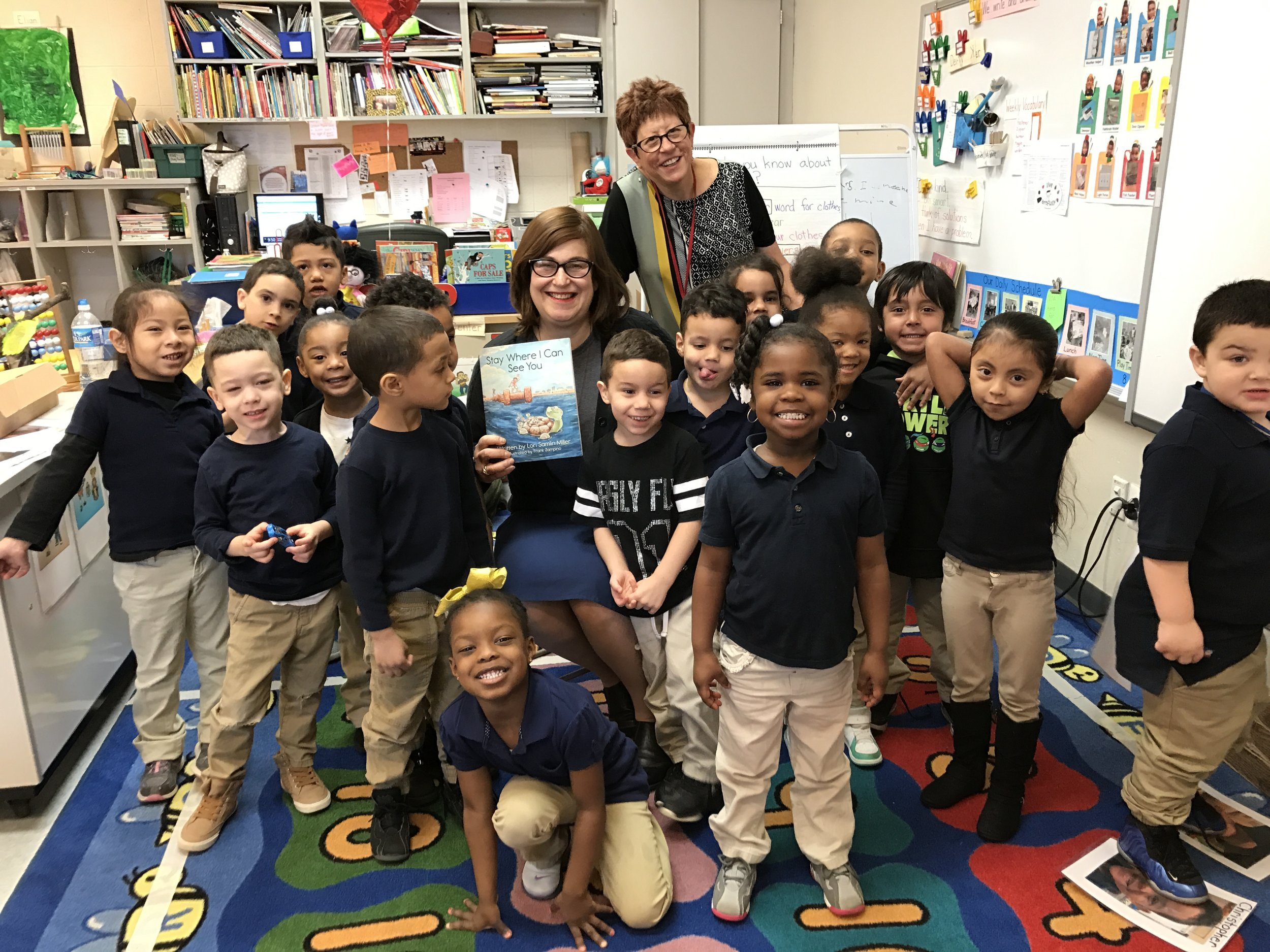 ECDC - Early Childhood Developmental Center   A dear friend of mine asked me to share my book with her class. On February 22, 2017 I visited ECDC and shared my story with the students. They loved  Stay Where I Can See You  and wrote me a beautiful letter letting me know how much they enjoyed my visit.