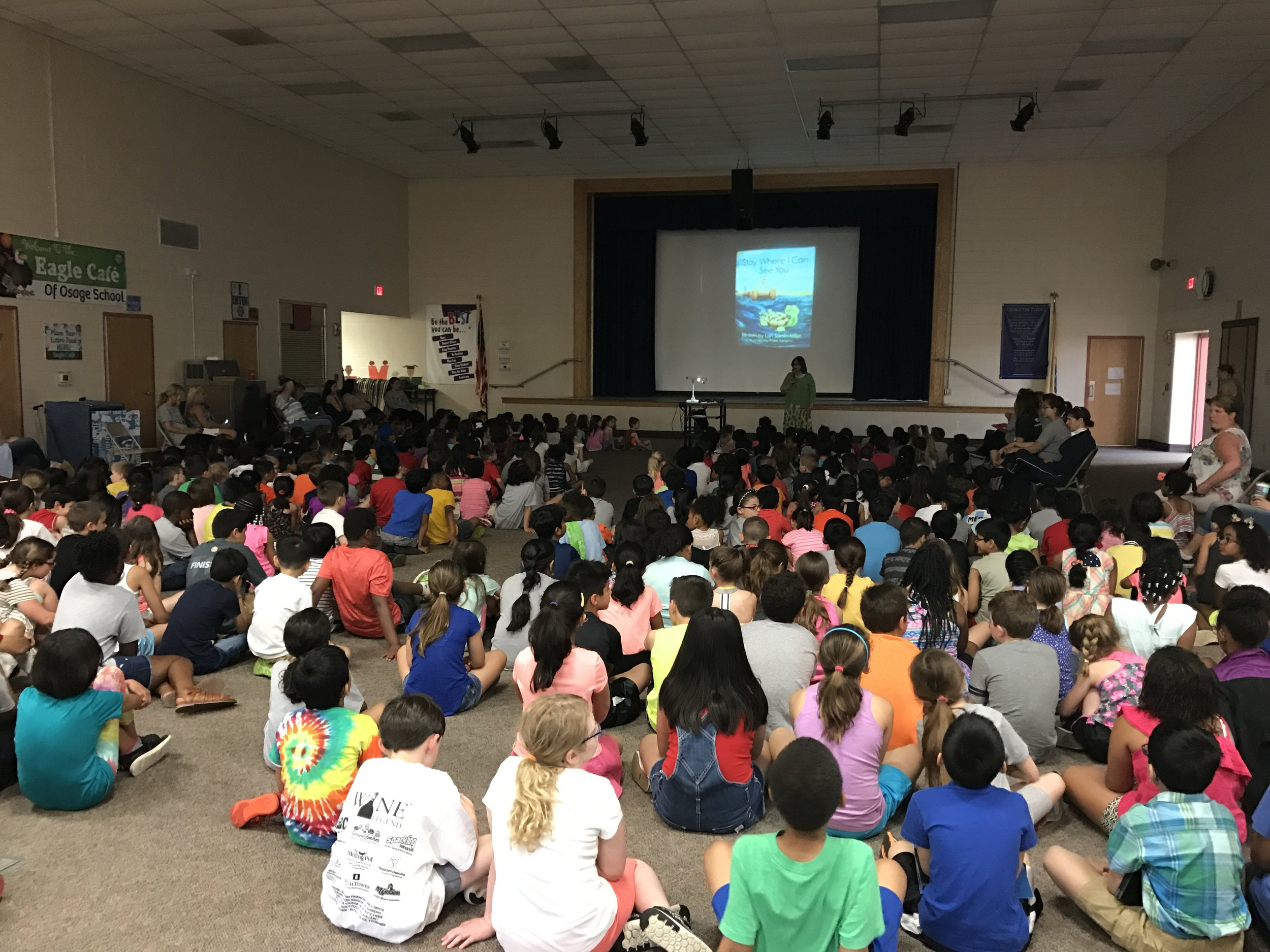 Osage Reading Program     On May 19th, 2017 I spent a wonderful day at Osage Elementary School. After sharing my book with the Kindgarten-3rd Graders, we had a chance to discuss the writing process. The students are excited and inspired writers with many interesting questions.